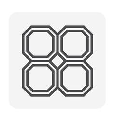 paver block icon vector image