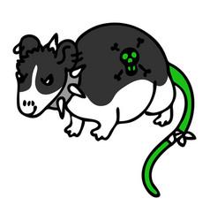 Punk rock mouse clipart vector