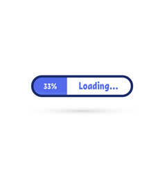 purple loading bar simple icon vector image