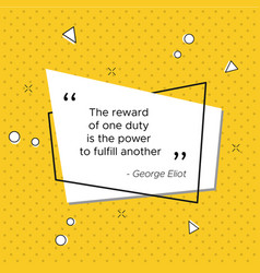 quote of george eliot for usa veterans day vector image