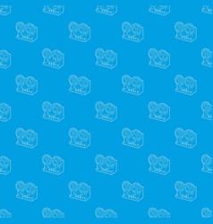 Retro recorder pattern seamless blue vector