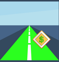 Road with a dollar sign vector
