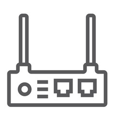 router line icon internet and connection wifi vector image