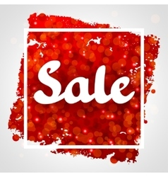 Sale red abstract background design with glitter vector image