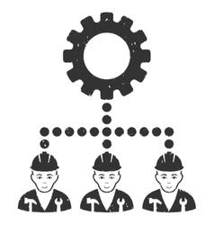 Service Staff Grainy Texture Icon vector image