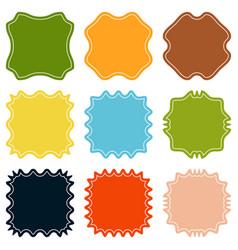 set template sunburst shapes badges vector image