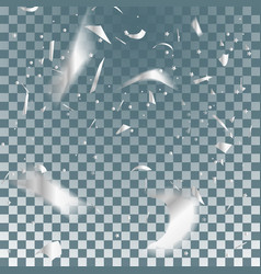 silver confetti vector image