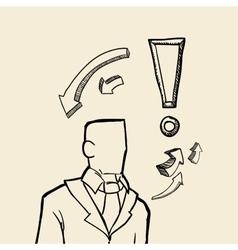 sketch icon businessman concept Flat vector image