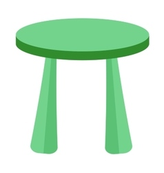 Small and colorful table for little kids vector