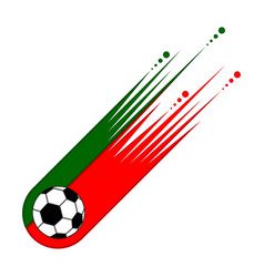 Soccer ball with the flag of portugal vector