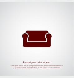 sofa icon simple vector image