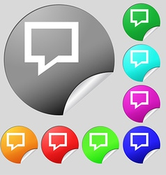 Speech bubble Think cloud icon sign Set of eight vector image