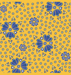 tossed pretty floral blue and yellow vector image