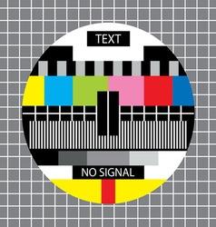 Tv no signal monoscope vector
