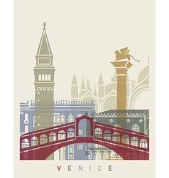 Venice skyline poster vector image