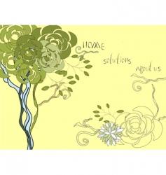 Website brochure template with tree vector
