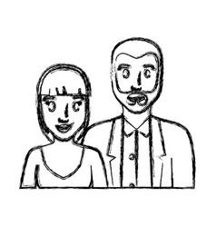 wedding couple icon vector image