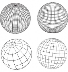 Wireframe spheres vector