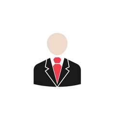 business man solid icon user business vector image vector image