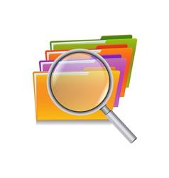 folder search vector image