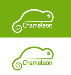 image of chameleon design on white background and vector image vector image