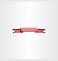 light red ribbon banner design element vector image vector image
