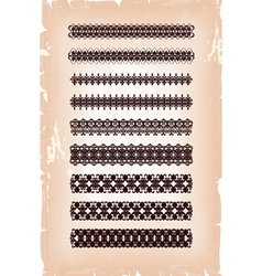 set of antique arabesque patterns vector image vector image