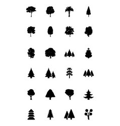Trees Icons 1 vector image