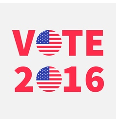 Vote 2016 red text Blue badge button icon with vector image vector image