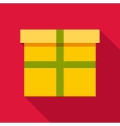 Yellow box icon flat style vector image vector image