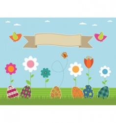 Easter flower garden vector image vector image