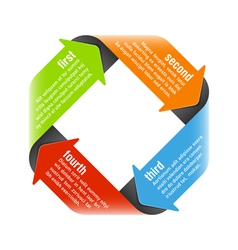 Four steps process arrows vector