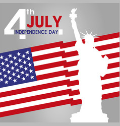fourth of july independence day vector image