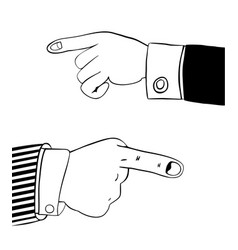 human hand in office suit vector image