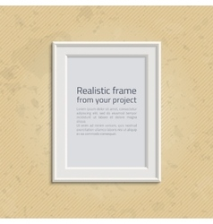 Picture frame with text vector image vector image