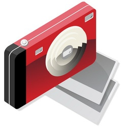 red camera vector image vector image