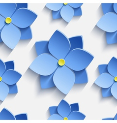 Seamless pattern with blue summer flowers violets vector image vector image