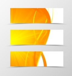 Set of banner wave design vector image vector image