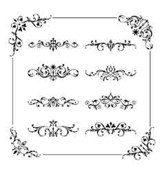 Vintage frame border divider corner vector image vector image