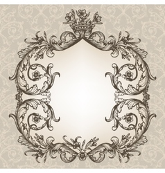 Vintage royal card vector image vector image