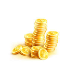 coins icon of golden dollar coin cent stack vector image vector image
