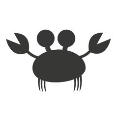 crab animal cute marine vector image