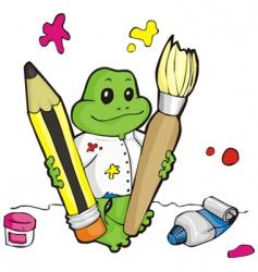 frog artist vector image