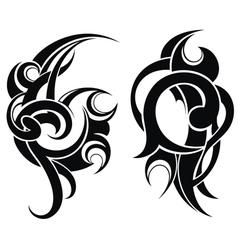Maori styled tattoo pattern vector image vector image