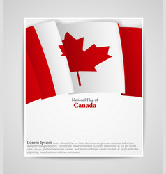 national flag brochure of canada vector image vector image