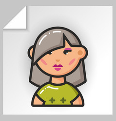people face icons 9 vector image vector image