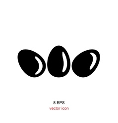 Simple egg icon vector image vector image