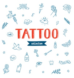 Tattoo doodles collection vector image vector image