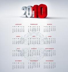 2010 calendar vector image