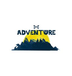 Adventure cute lettering text watercolor vector